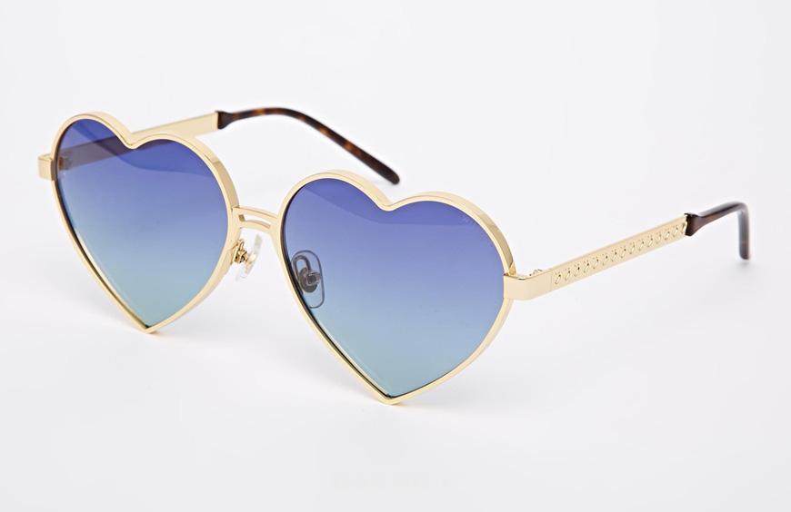 عکسهایی جالب از عینک های آفتابی به شکل قلب