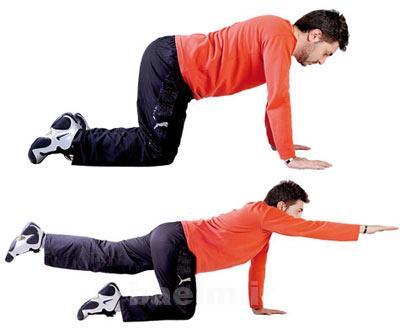 ورزش و سلامت | حركات ورزشي ساده براي درمان كمر درد