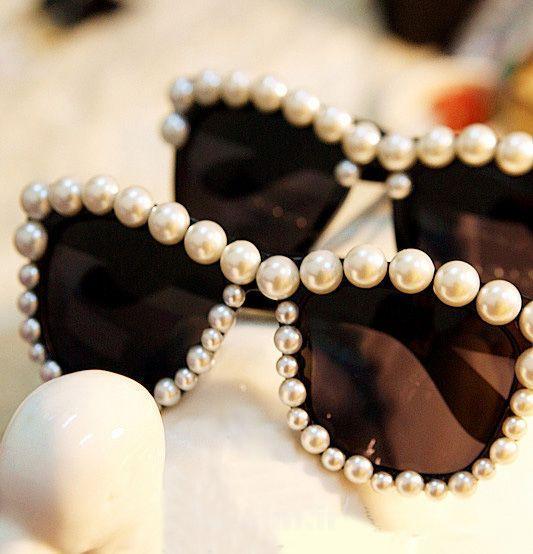 عکسهایی بسیار شیک از تزئین دور قاب عینک آفتابی