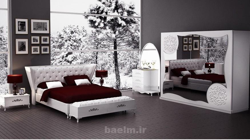مد   عکسهایی از چیدمان اتاق خواب به رنگ سفید