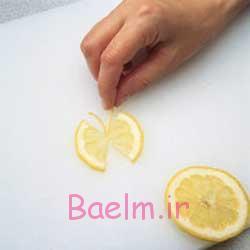 ساخت پروانه با لیمو,اموزش درست کردن پروانه