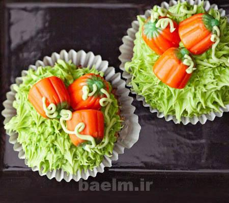 آموزش پخت کیک | طرز تهیه کاپکیک کدوحلوایی(بسیار خوشمزه)