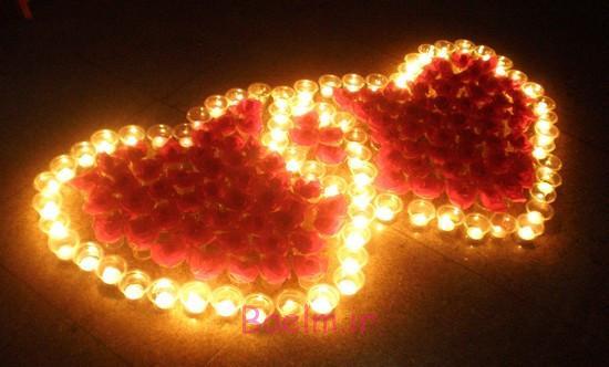 عکس هایی از تزئین شمع برای روز ولنتاین (بسیار زیبا و رمانتیک )