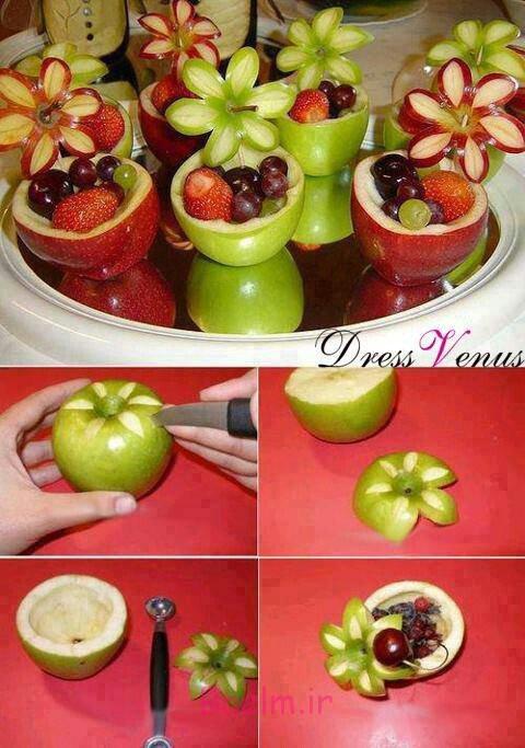 عکس هایی از تزئین میوه ها و دسر (بسیار زیبا و مجلسی)