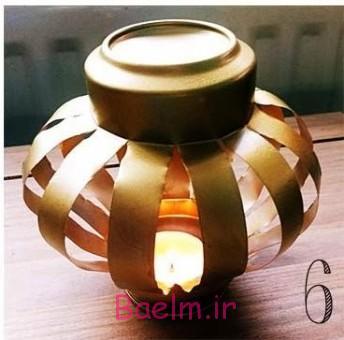 پاک جوهر درست كردن جا شمعي با استفاده از قوطي نوشابه فلزي   هنر در ...