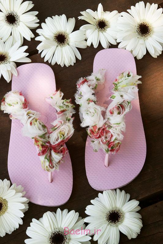 diy flip flop ideas decorating with fabric scraps