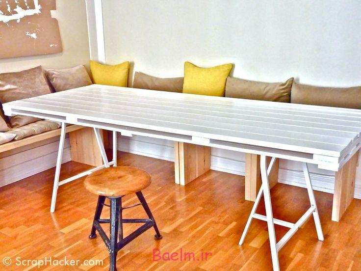 diy-white-pallet-dining-table