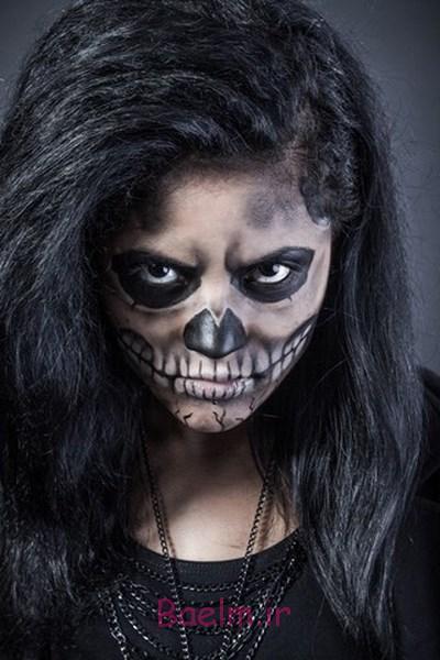 women skull effect body painting halloween makeup inspirations
