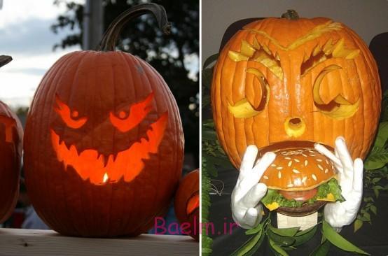 عکس های کنده کاری کدوتنبل برای روز هالووین (جالب و خنده دار) سری 3
