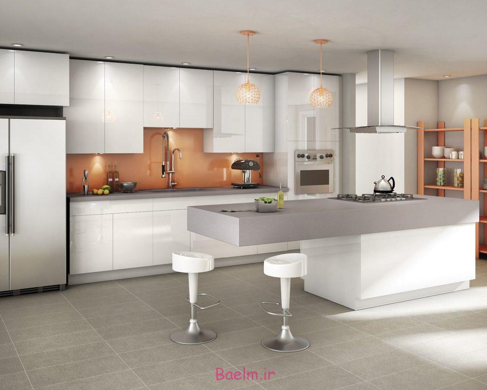 عکس هایی از زیباترین دکوراسیون آشپزخانه های اپن اروپایی (سری 4)