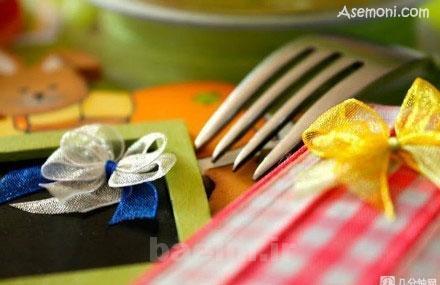 making a bow tie 1 ساخت پاپیون برای کارت پستال