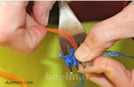 making a bow tie 5 ساخت پاپیون برای کارت پستال