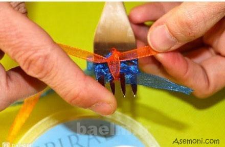 making a bow tie 6 ساخت پاپیون برای کارت پستال
