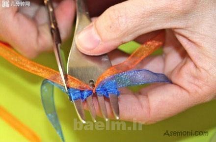 making a bow tie 7 ساخت پاپیون برای کارت پستال