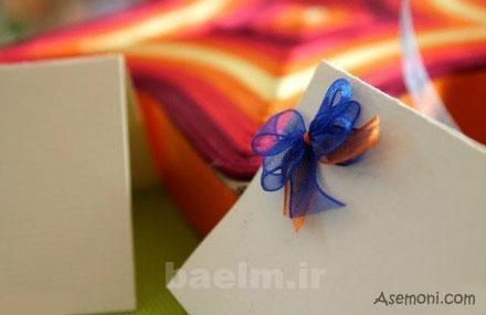 making a bow tie 9 ساخت پاپیون برای کارت پستال