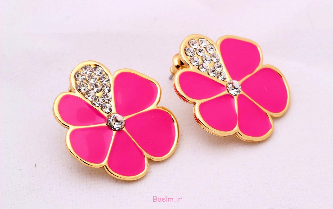 pink earring designs 3 Pink Earring Desings
