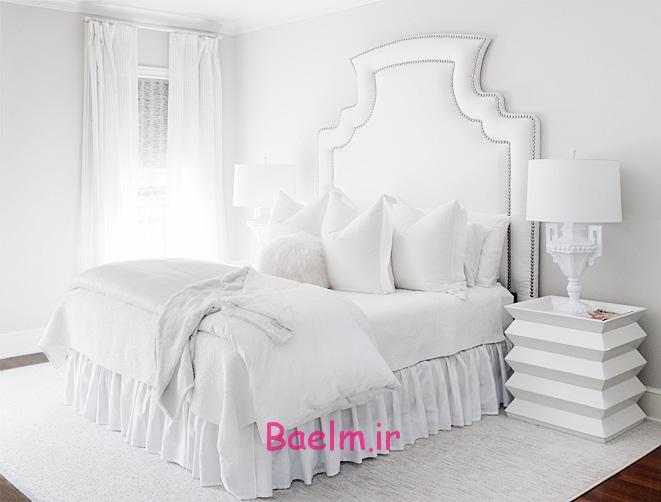 عکس هایی از دکوراسیون و ست سفید اتاق خواب اروپایی(سری3)