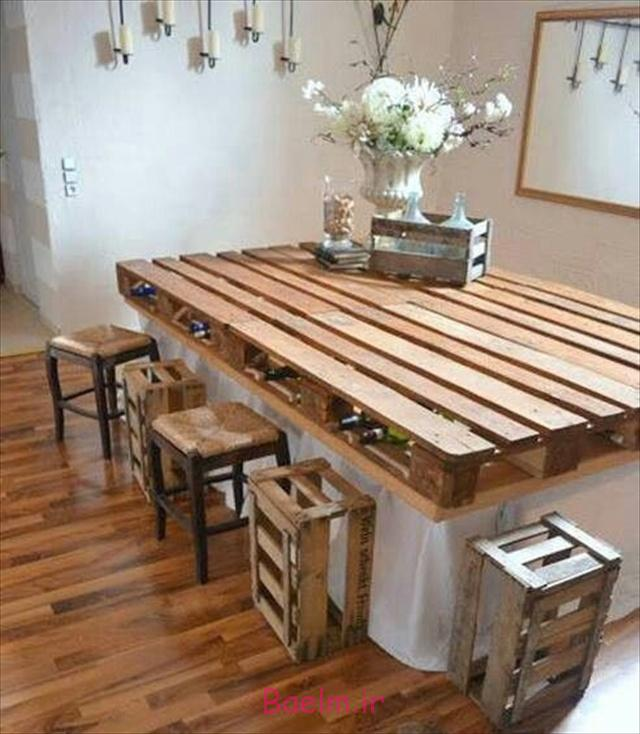 recycled-pallets diy dining table