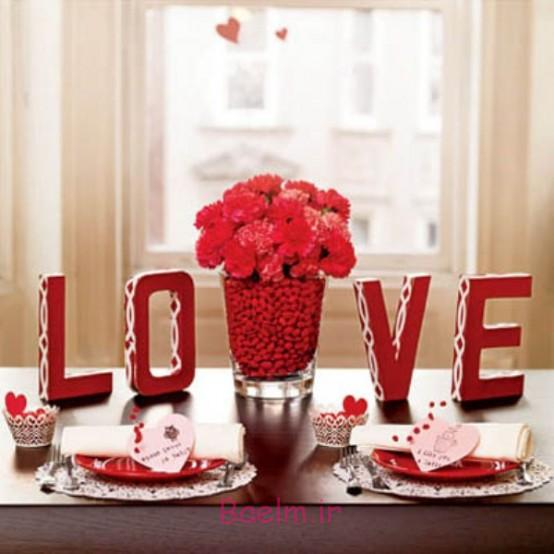 عکس چیدمان و دیزاین میز غذاخوری برای روز ولنتاین (بسیار رمانتیک و شیک) سری 2