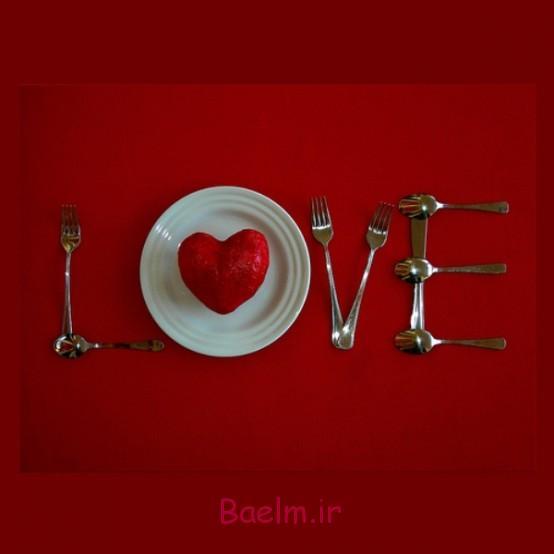 عکس چیدمان و دیزاین میز غذاخوری برای روز ولنتاین (بسیار رمانتیک و شیک)