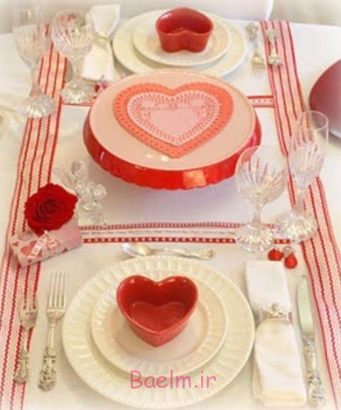 عکس های رمانتیک از چیدمان میز برای روز ولنتاین (سری 5)