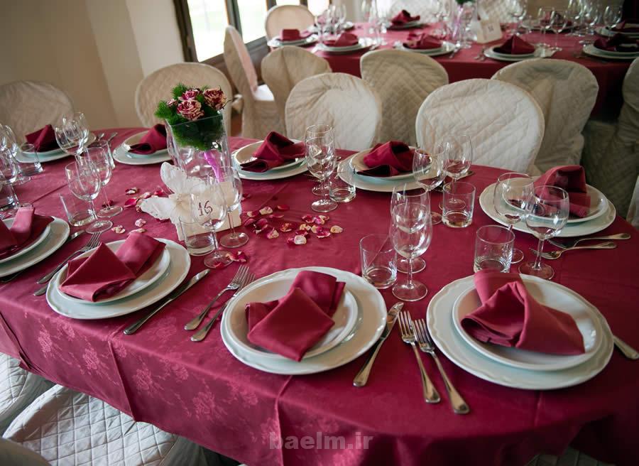 عکس هایی از چیدمان و دکوراسیون میز عروسی(اروپایی)