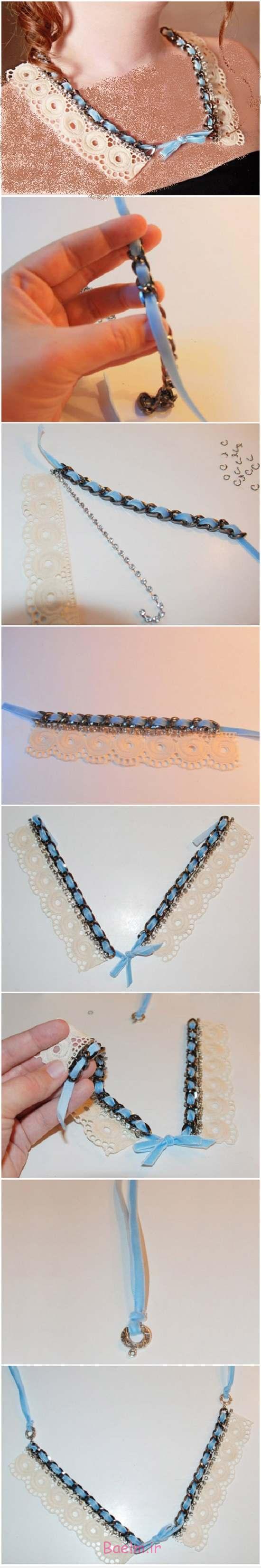 آموزش تصویری | طرز ساخت گردنبند کلاسیک (زیبا و جالب)