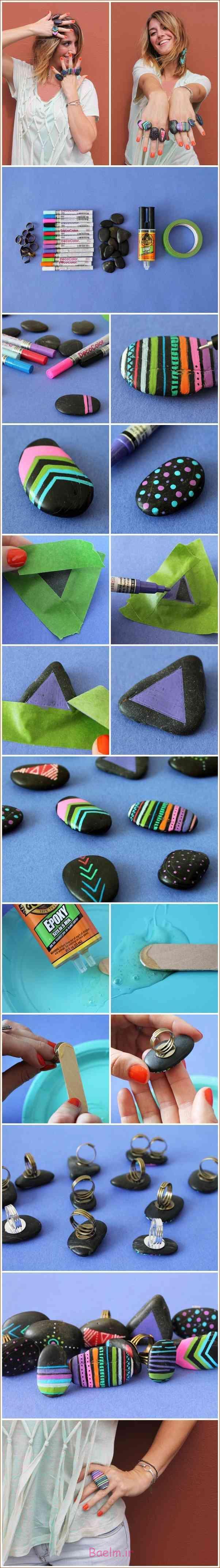 آموزش تصویری | طرز ساخت انگشتر با سنگ (زیبا و شیک)