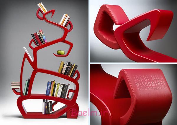 عکس های زیبا   مدل های جدید قفسه های کتاب (بسیار شیک)