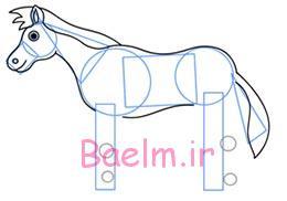 آموزش تصویری نقاشی | آموزش گام به گام کشیدن اسب | نقاشی اسب