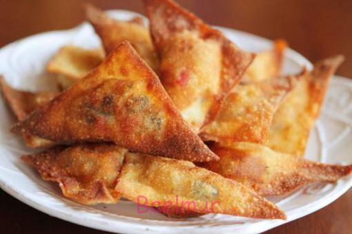 تغذیه مناسب کودک | طرز تهیه سمبوسه پنیری بدون خمیر یوفکا (بسیار خوشمزه)
