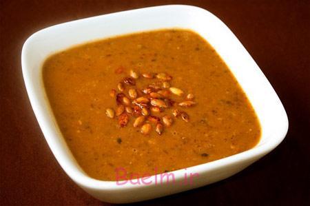 انواع سوپ | طرز تهیه سوپ کدو حلوایی و لوبیا سیاه