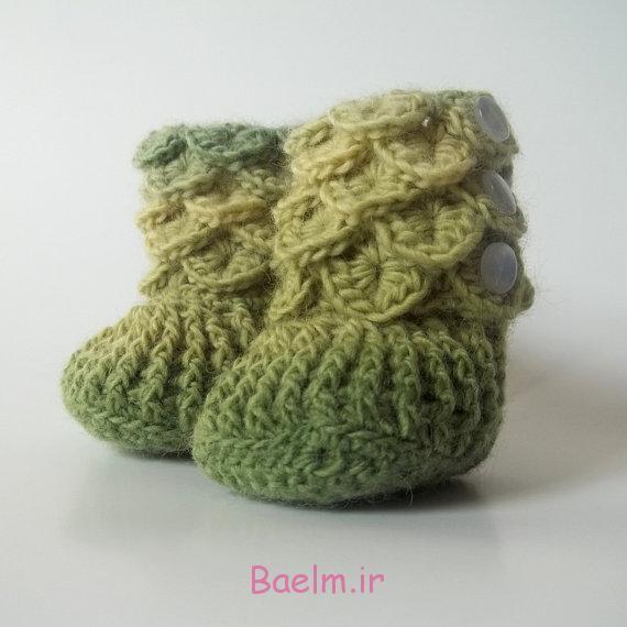 ژورنال قلاب بافی   زیبا ترین کفش های بافتنی نوزاد (مدل جدید)