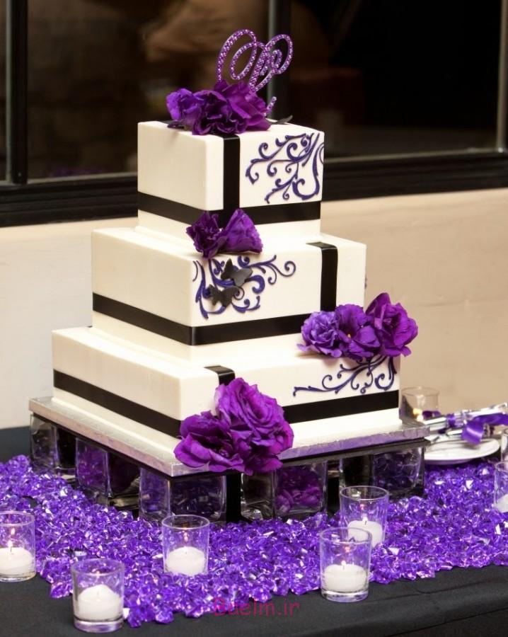 عکس های جالب   کیک های عروسی زیبا با تزئین زمستانه