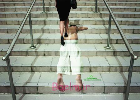 عکسهای جالب | تبلیغات خلاقانه و زیبا روی پله