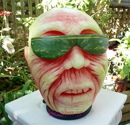 Scary Watermelon Sculptures