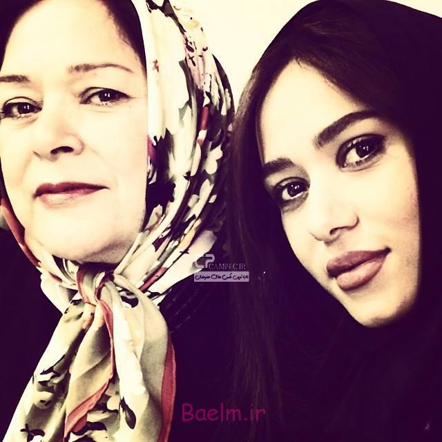 پریناز ایزدیار و مادرش