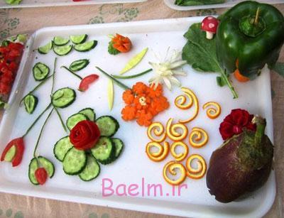 عکس های زیبا | سفره آرایی شیک از تزئینات سبزی خوردنی