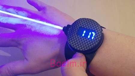 مطالبی در مورد ساعت لیزری که اشیاء را میسوزاند + عکس