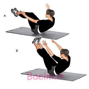 ورزش و سلامت | حركات ورزشي براي عضلات شكم ،پهلو و باسن + تصوير