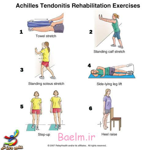 ورزش و سلامت   برنامه تمريني مناسب جهت بازتوانی و درمان پارگی آشیل