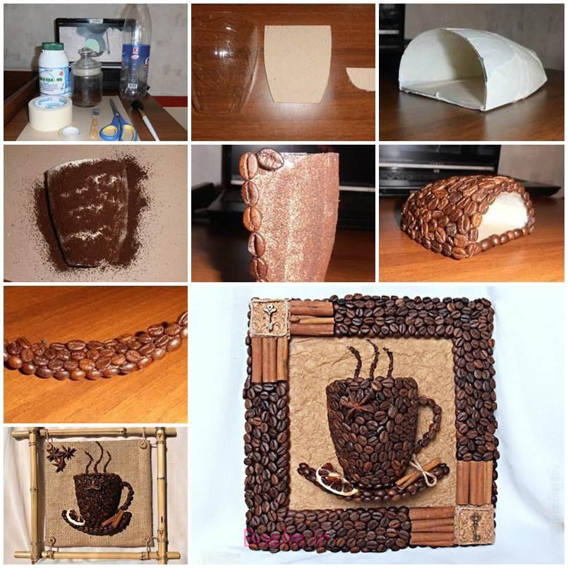 DIY 3D قهوه جام دیوار دکور