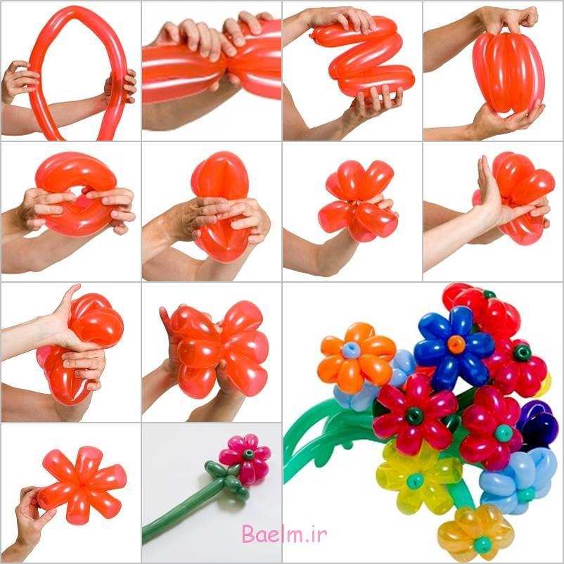 بالون های زیبا DIY دیزی گل