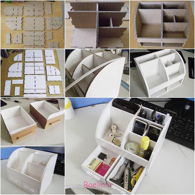 آموزش تصویری | آموزش درست کردن جعبه لوازم با مواد بازیافتی