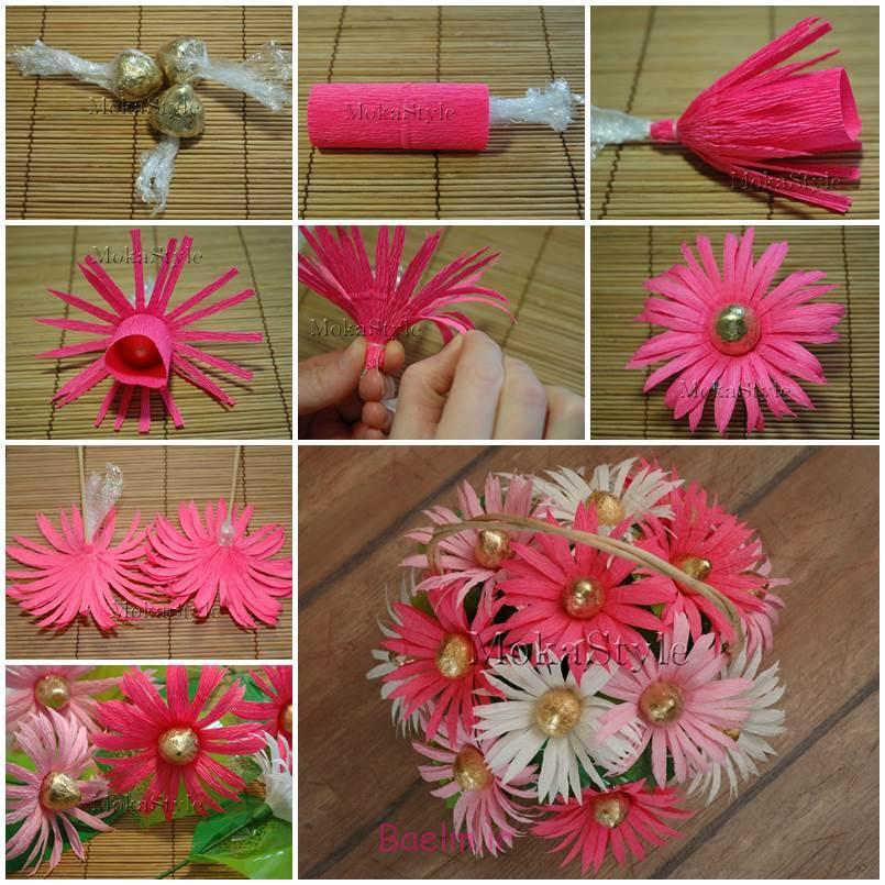 آموزش تصویری | آموزش درست کردن گل های ژربرا (بسیار ساده و زیبا)