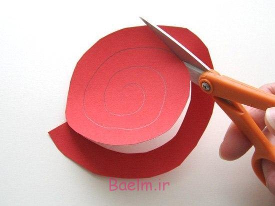 قلب DIY شکل کاغذ رز روز عشق تاج گل 2