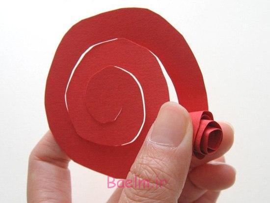 قلب DIY شکل کاغذ رز روز عشق تاج گل 3