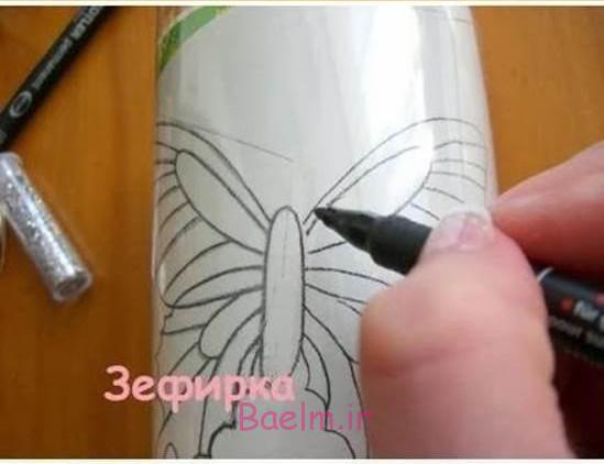 پروانه زیبا DIY از بطری های پلاستیکی 2