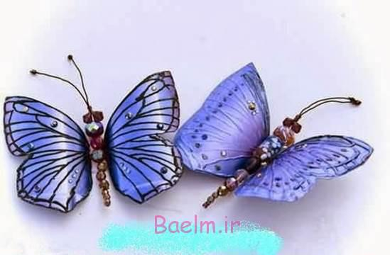 پروانه زیبا DIY از بطری های پلاستیکی 8