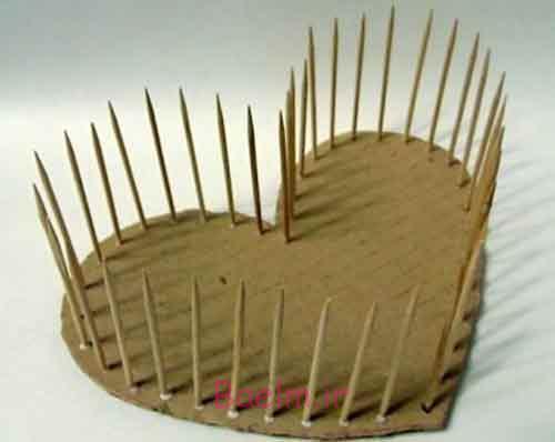 DIY زیبا نخ بافته شده قلب سبد شکل 1
